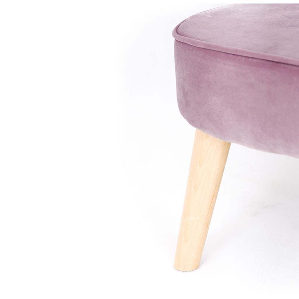 Detská Retro pohovka sofa Drewex tmavo ružová