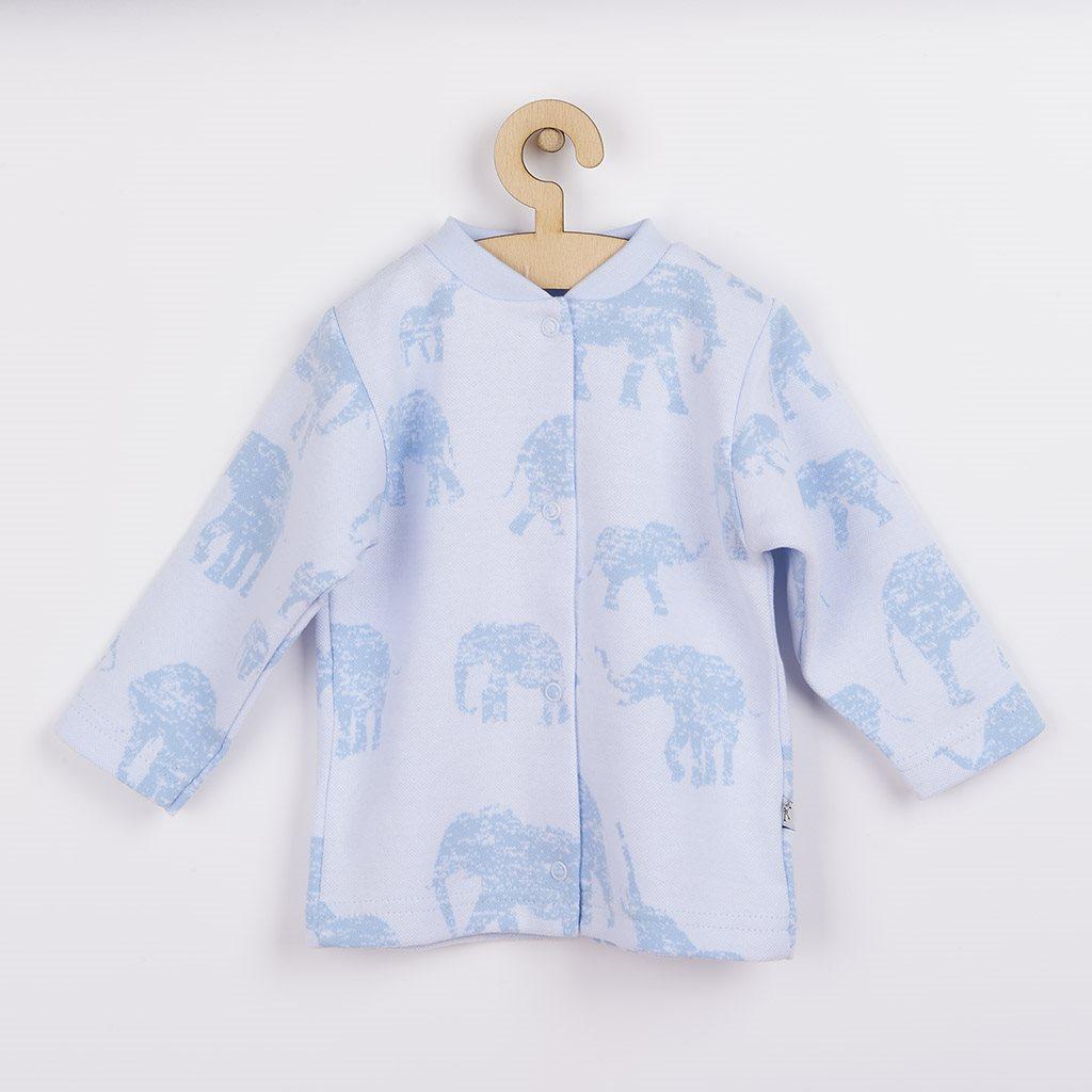 Dojčenský kabátik Baby Service Slony modrý-68 (4-6m)