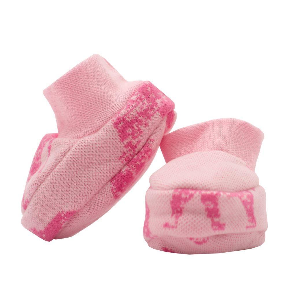 Zimné dojčenské capačky Baby Service Slony ružové