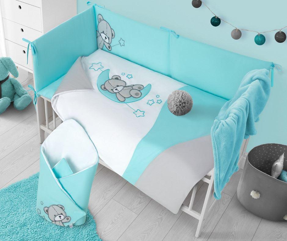 2-dielne posteľné obliečky Belisima Teddy Bear 90/120 tyrkysové