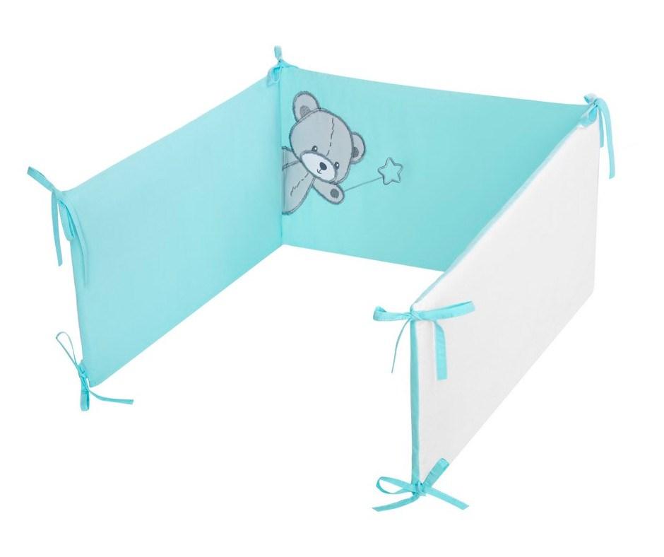 3-dielne posteľné obliečky Belisima Teddy Bear 100/135 tyrkysové