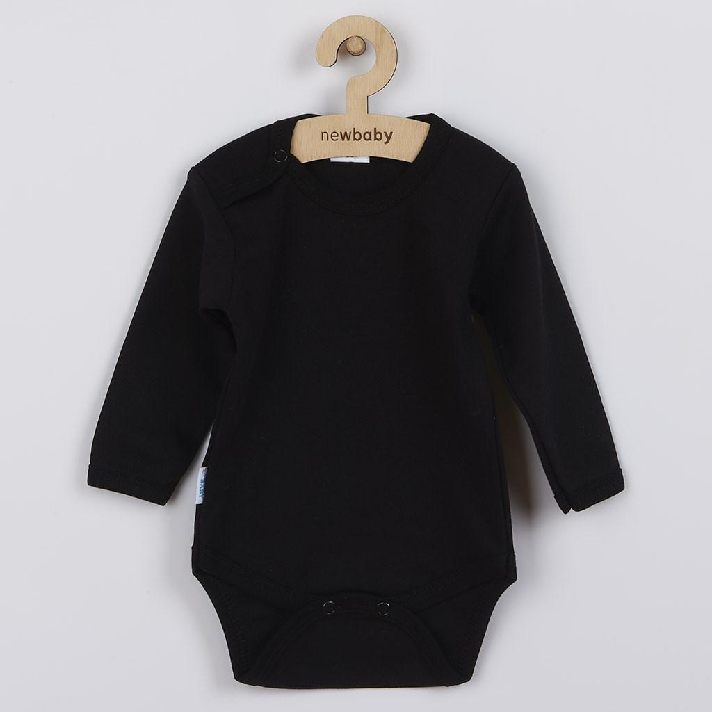 Body dlhý rukáv New Baby - čierne-50