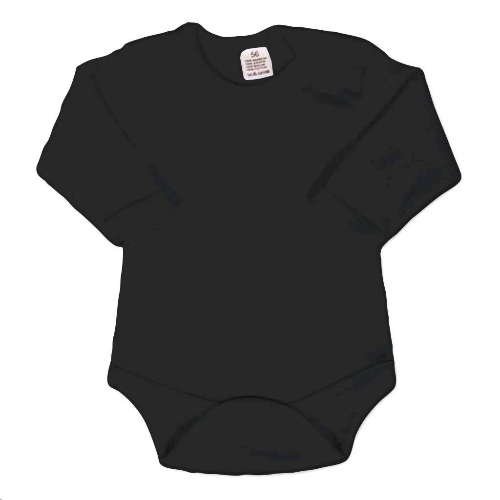 Body dlhý rukáv New Baby - čierne-86 (12-18m)