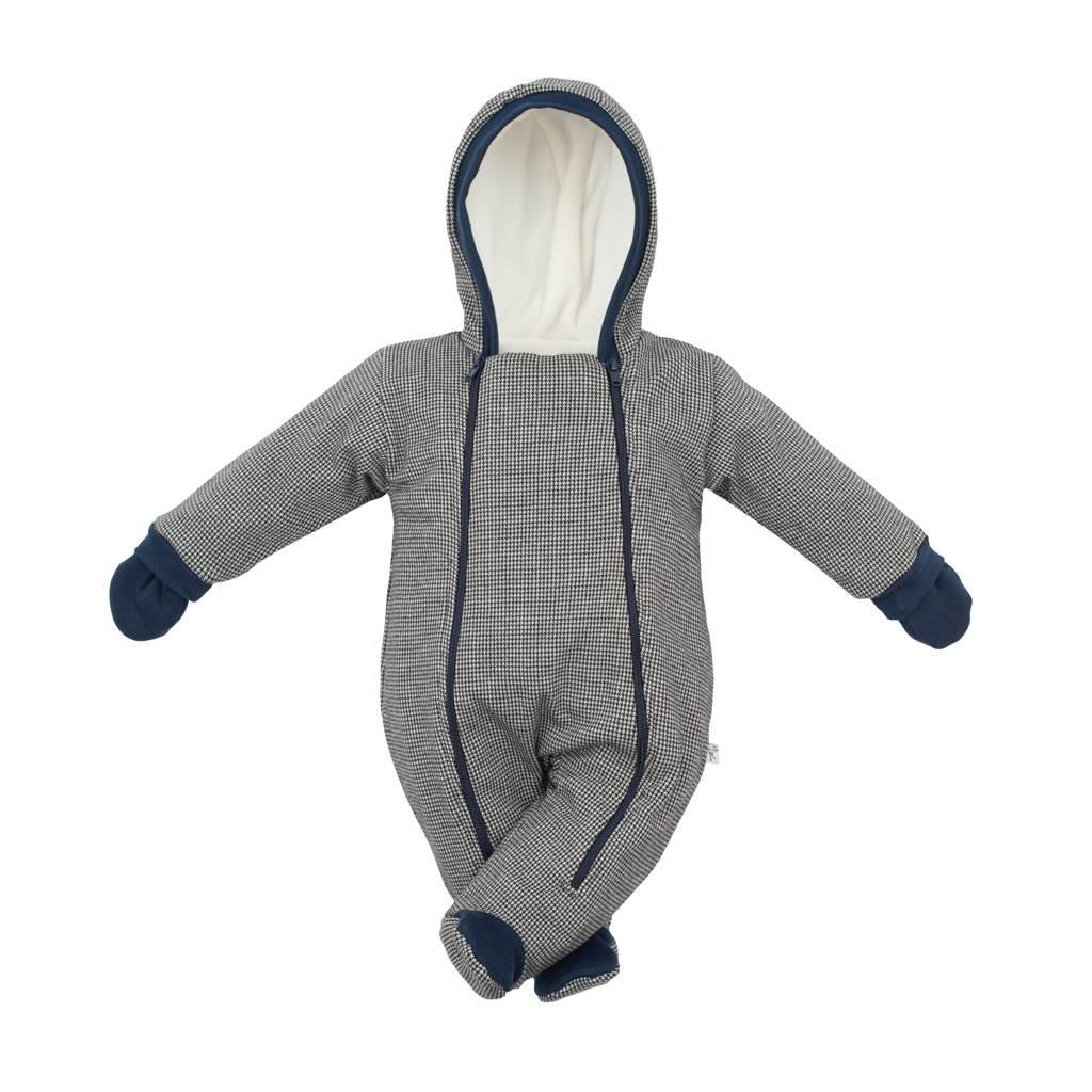 Zimná dojčenská kombinéza s kapucňou a rukavicami Baby Service Retro