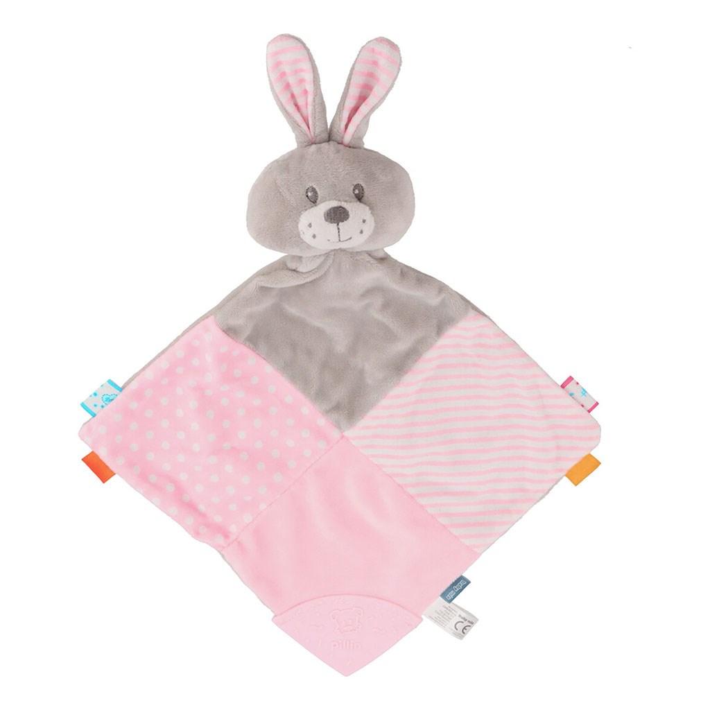 Zaspávačik Králik Baby Mix rúžový