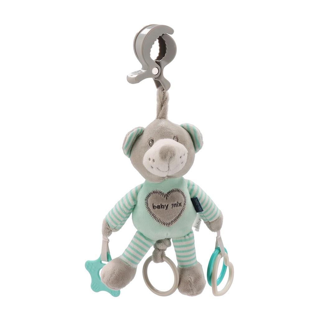 Plyšová hračka s vibráciou Baby Mix medveď mätový