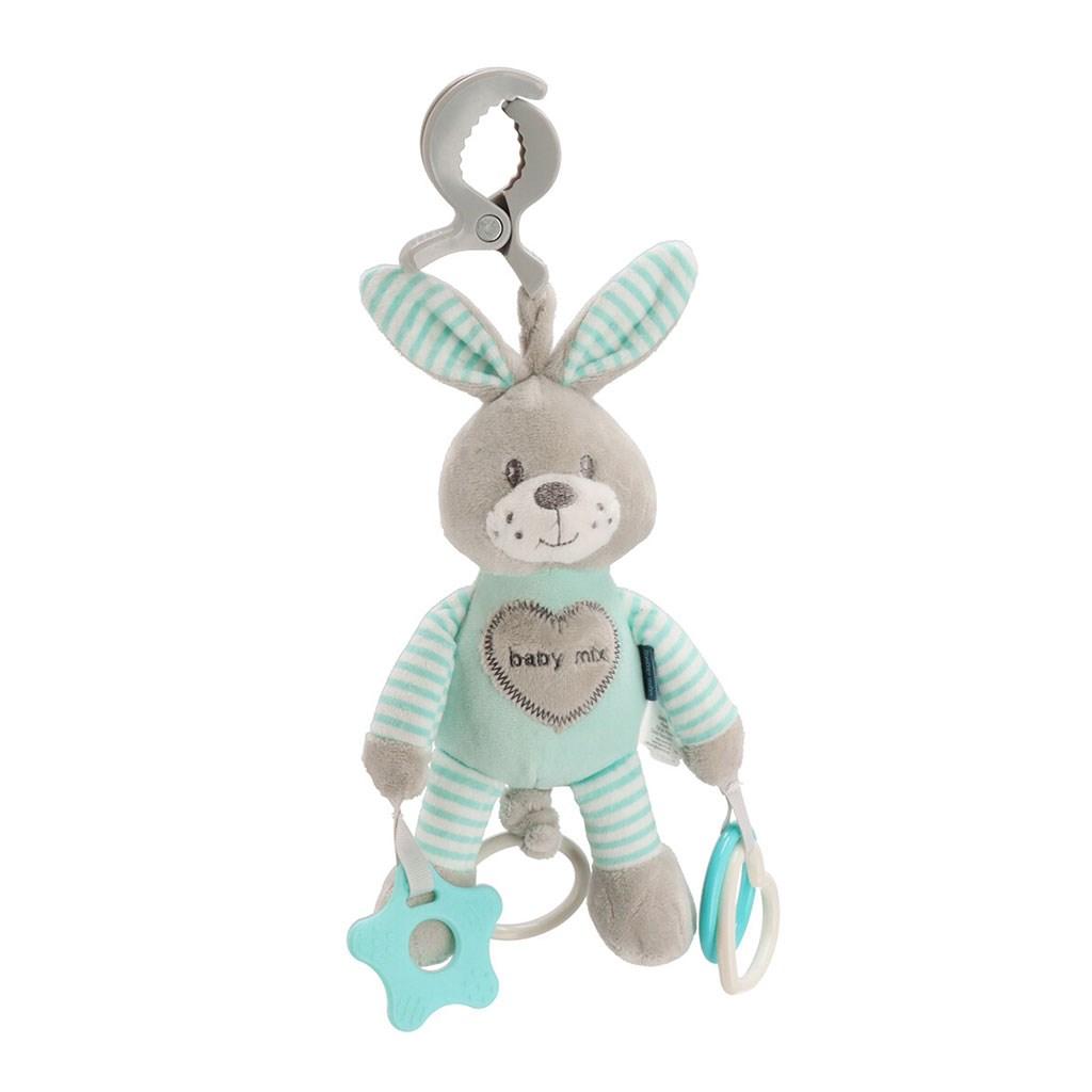 Plyšová hračka s vibráciou Baby Mix králik mätový