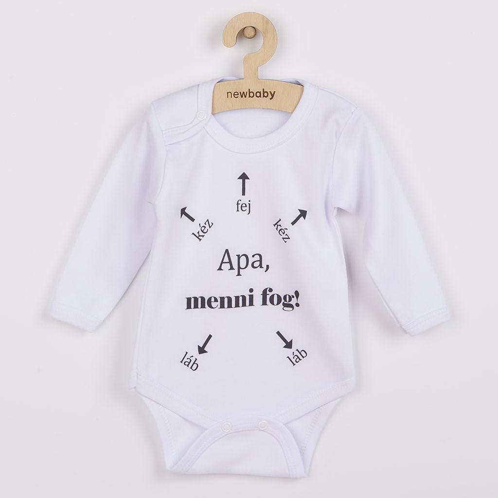 Body s potlačou New Baby Apa, menni fog!-56 (0-3m)