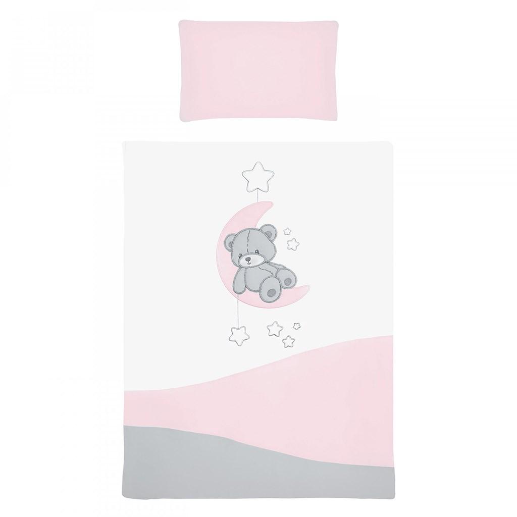 5-dielne posteľné obliečky Belisima Teddy Bear 90/120 ružové