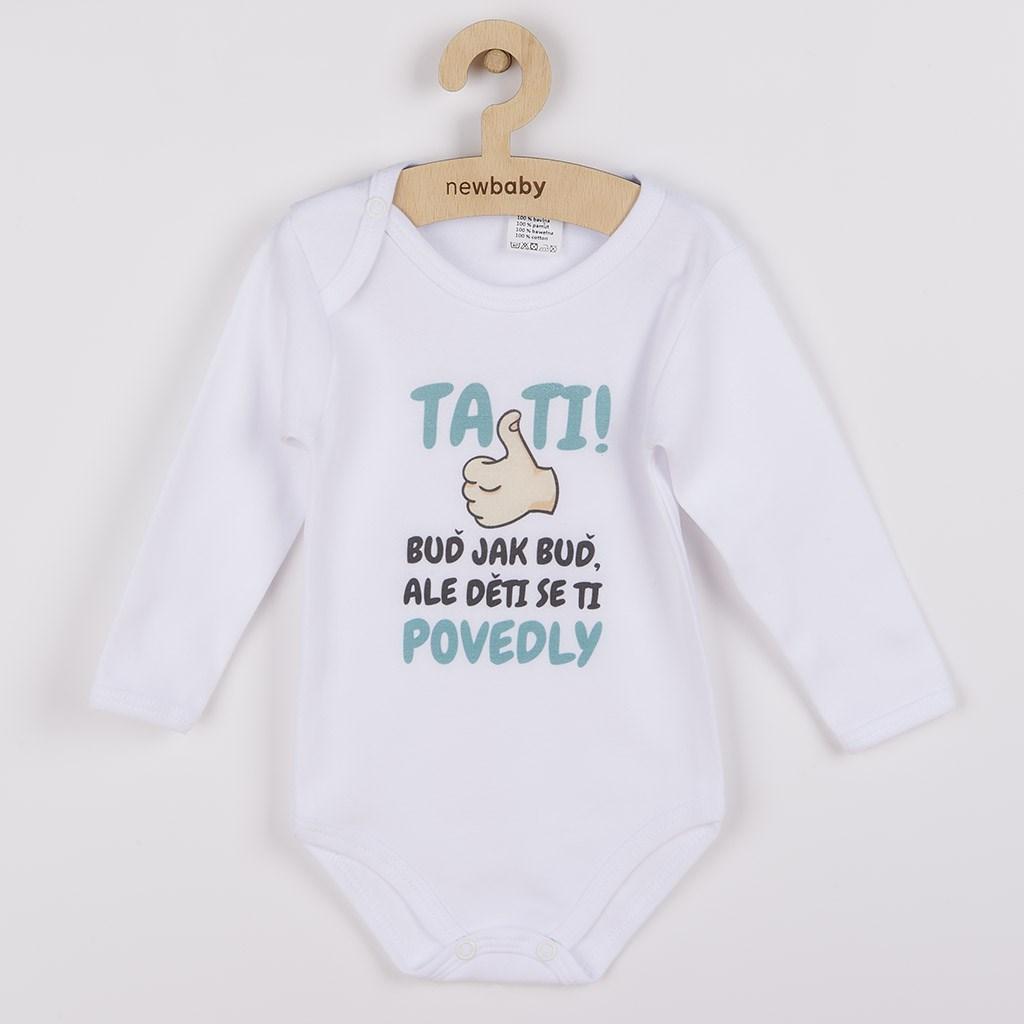 Body s potlačou New Baby Tati, ... děti se ti povedly