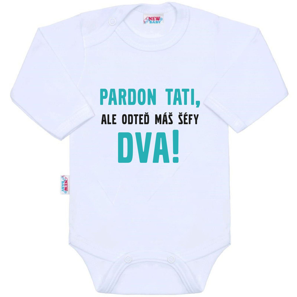 Body s potlačou New Baby Pardon tati, ...máš šéfy dva!