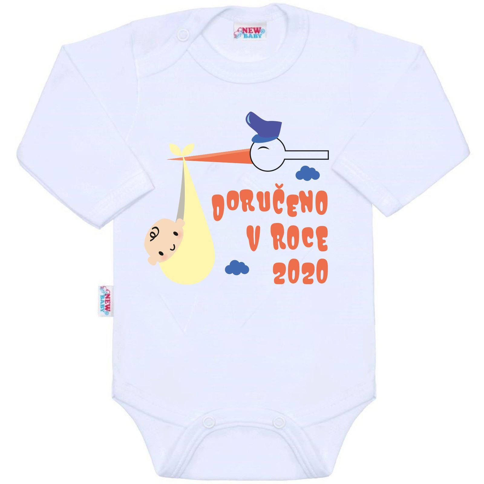 Body s potlačou New Baby Doručeno v roce 2020