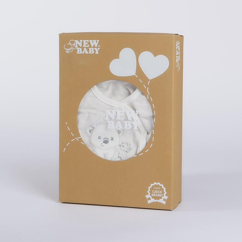Dojčenská súprava do pôrodnice New Baby For Sweet Bear béžová-56 (0-3m)