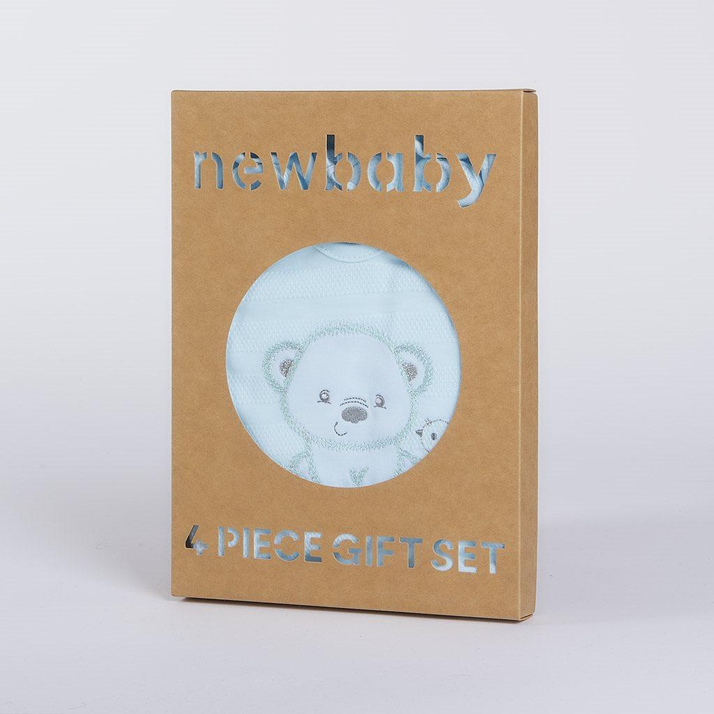 Dojčenská súprava do pôrodnice New Baby For Sweet Bear modrá
