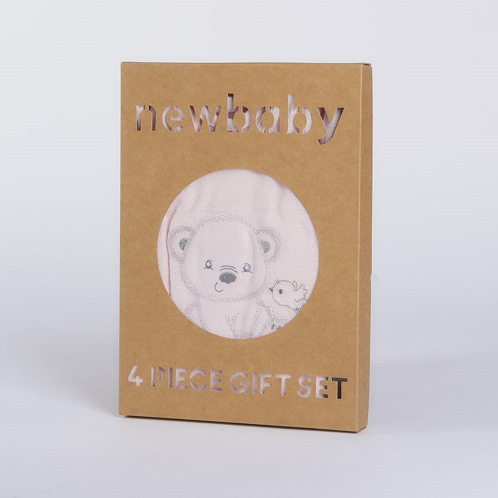 Dojčenská súprava do pôrodnice New Baby For Sweet Bear ružová