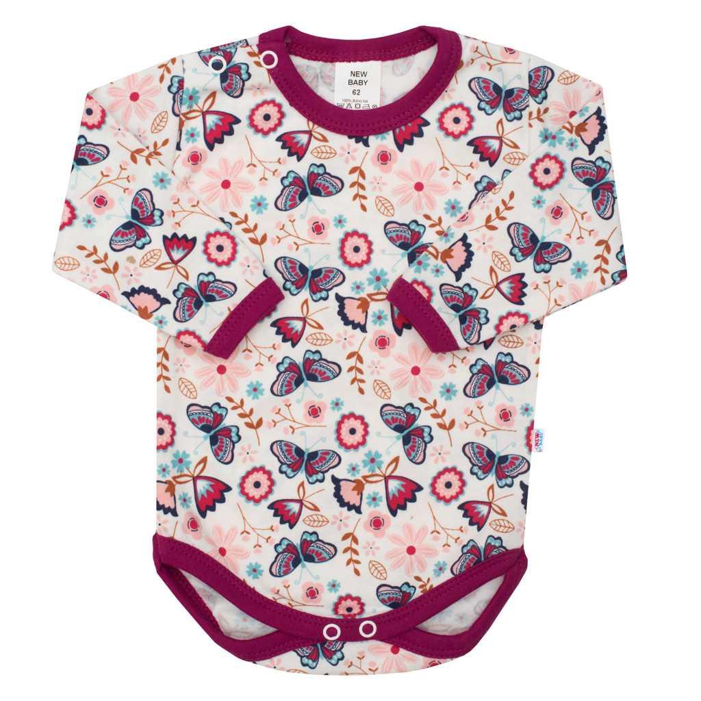 Dojčenské bavlnené body New Baby Little Girl-86 (12-18m)