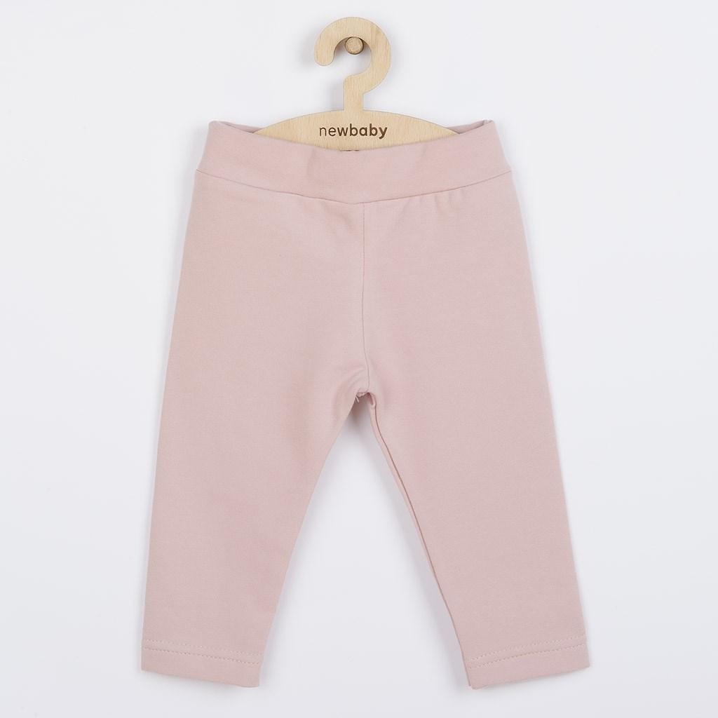 Dojčenské bavlnené legíny New Baby Leggings svetlo ružové