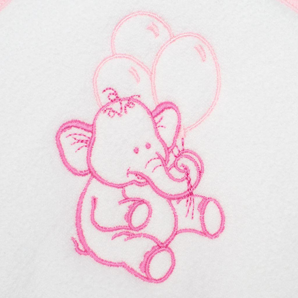 Detská froté osuška s výšivkou a kapuckou New Baby 100x100 biela sloník