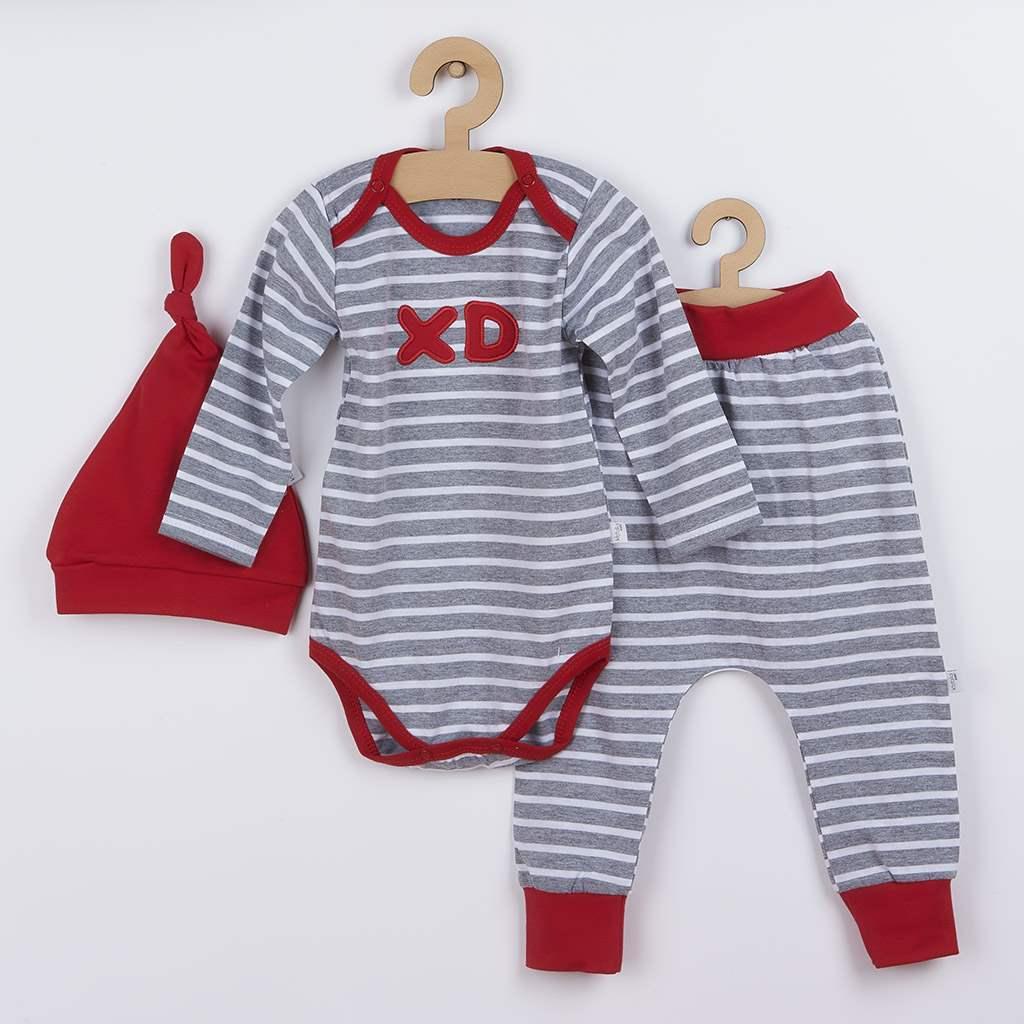 3-dielna bavlnená dojčenská súprava Koala XD červená-86 (12-18m)