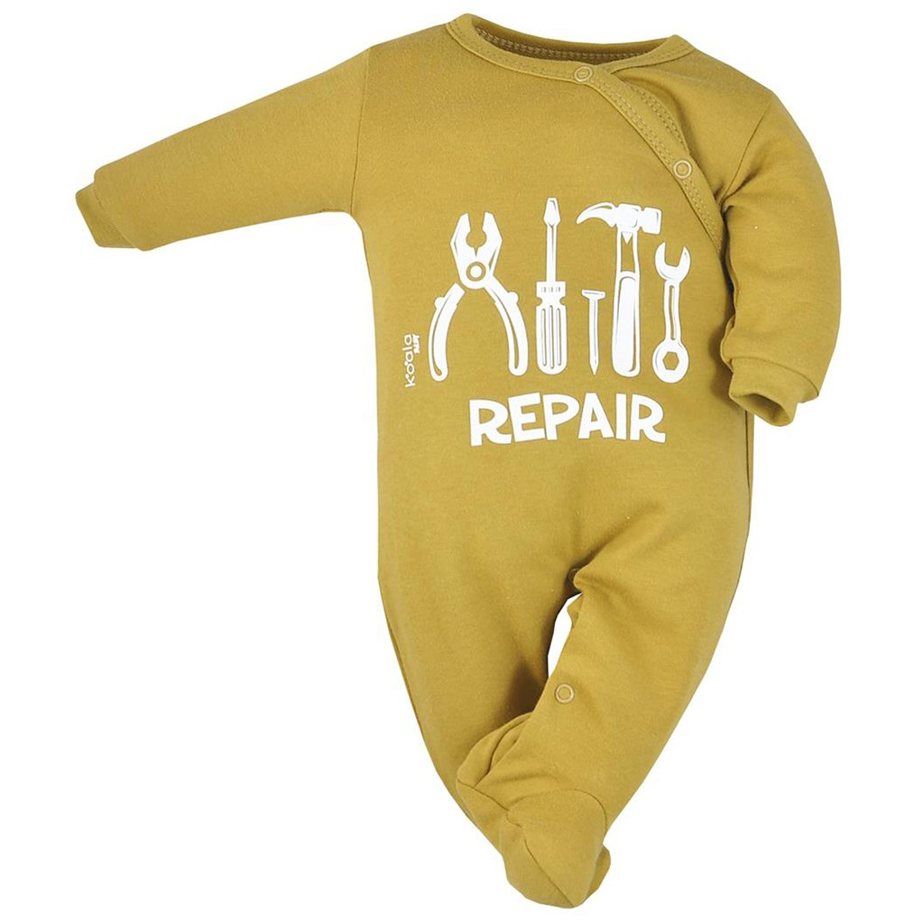 Dojčenský bavlnený overal Koala Repair oldgold-68 (4-6m)