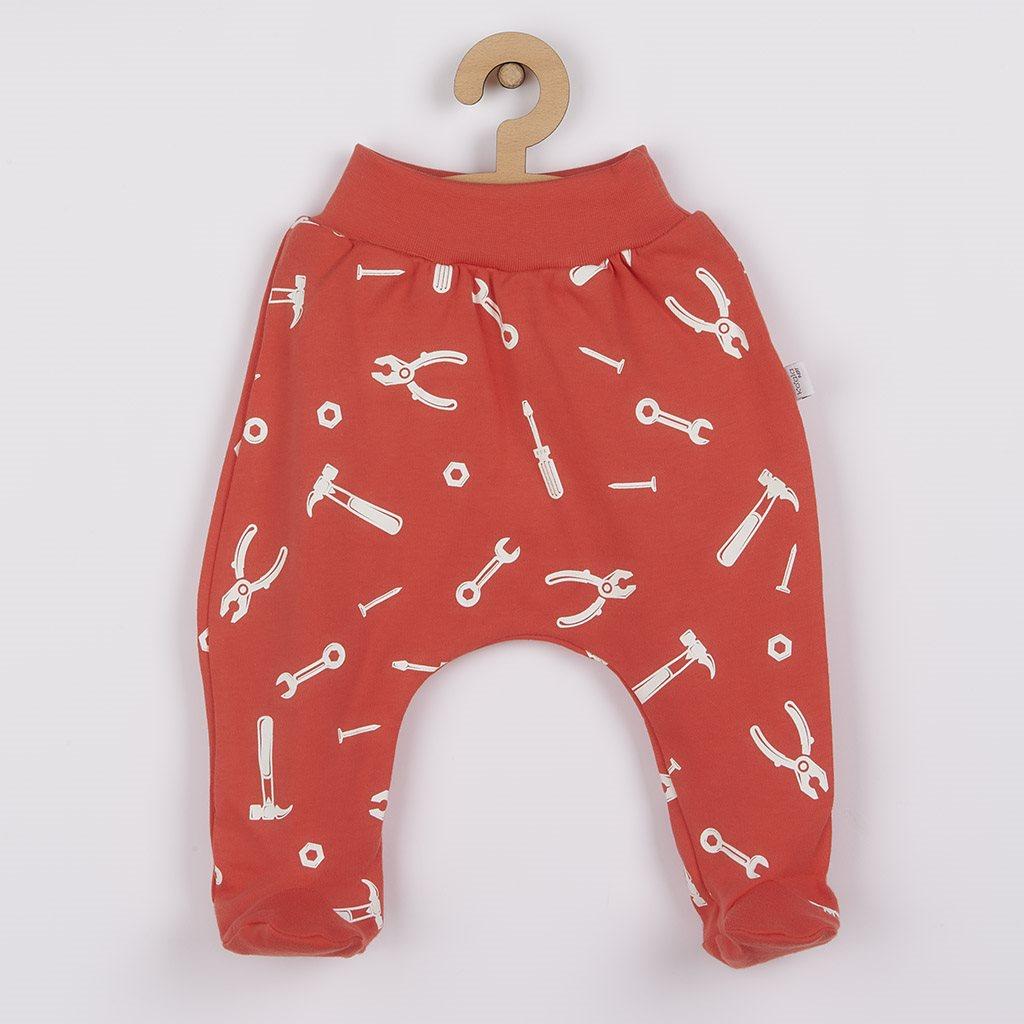 Dojčenské bavlnené polodupačky Repair dark peach-74 (6-9m)