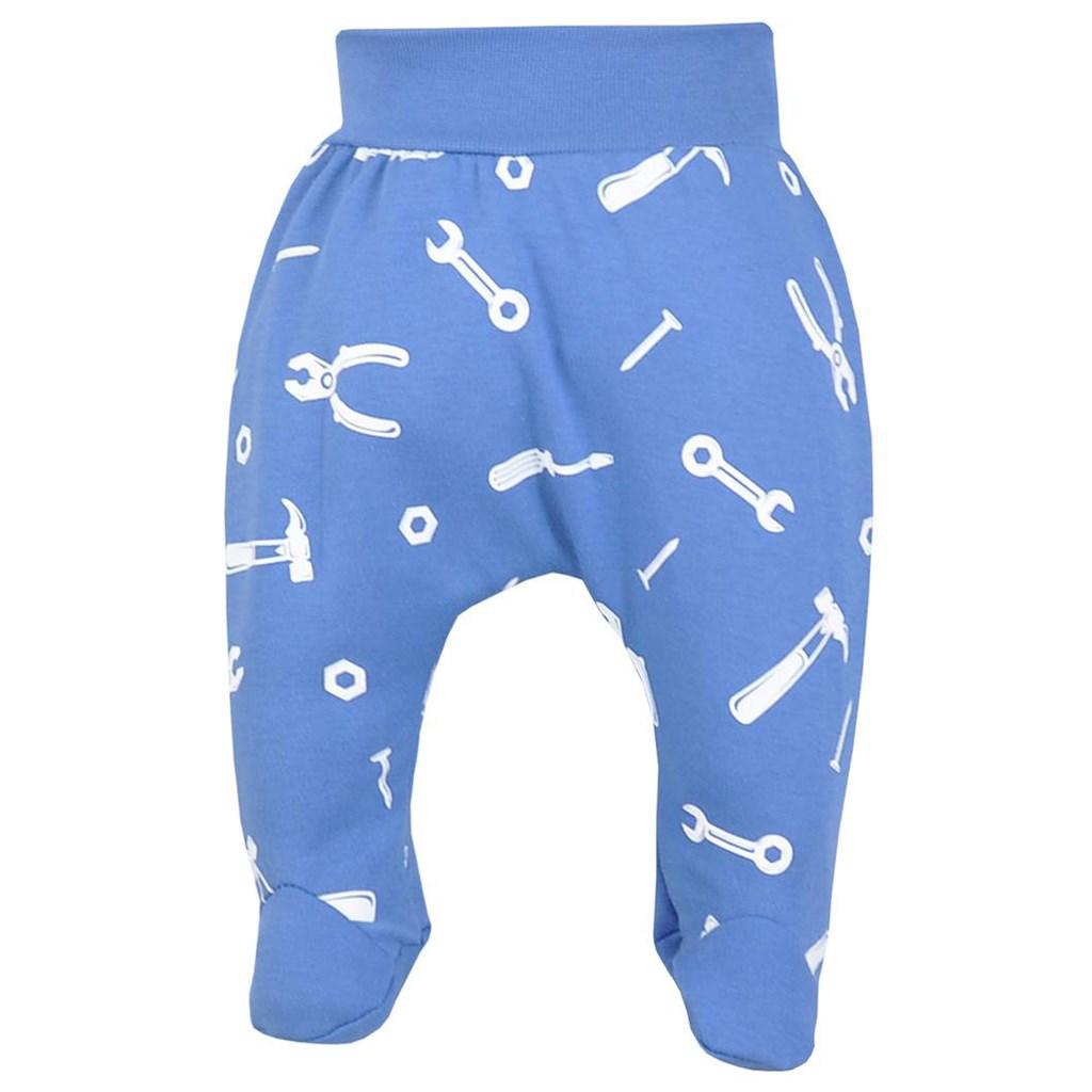 Dojčenské bavlnené polodupačky Repair blue-74 (6-9m)