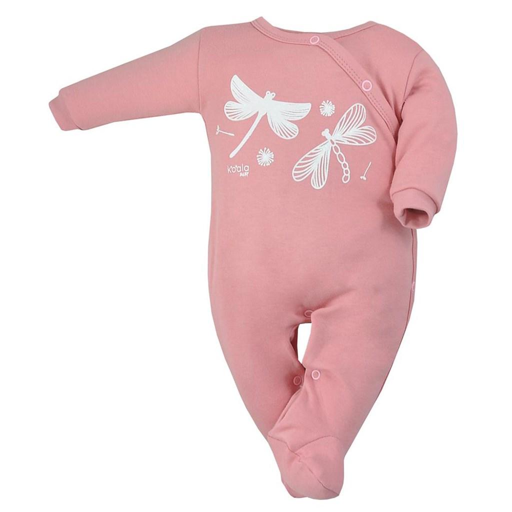 Dojčenský bavlnený overal Koala Vážka ružový