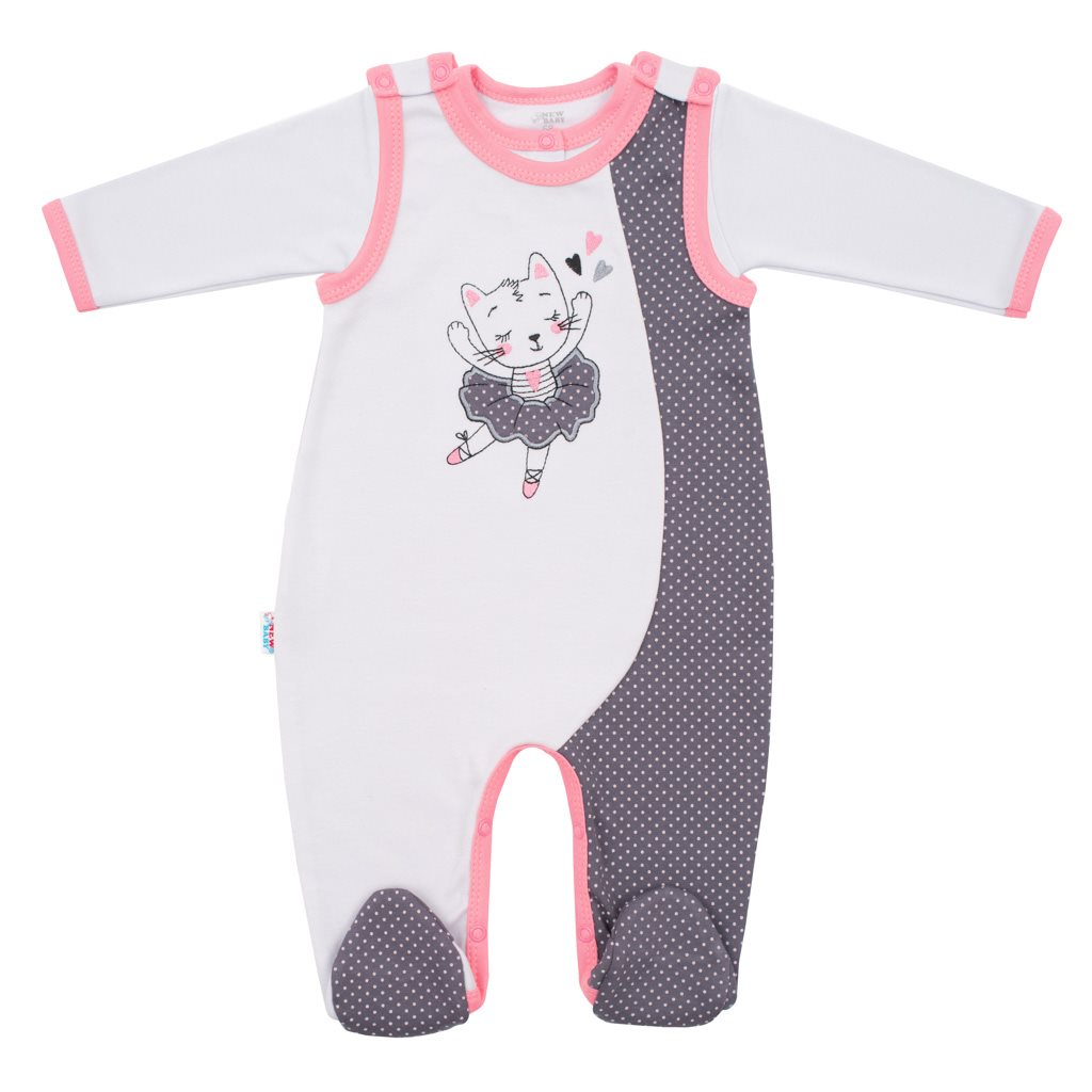 2-dielna bavlnená súprava New Baby Ballerina-68 (4-6m)