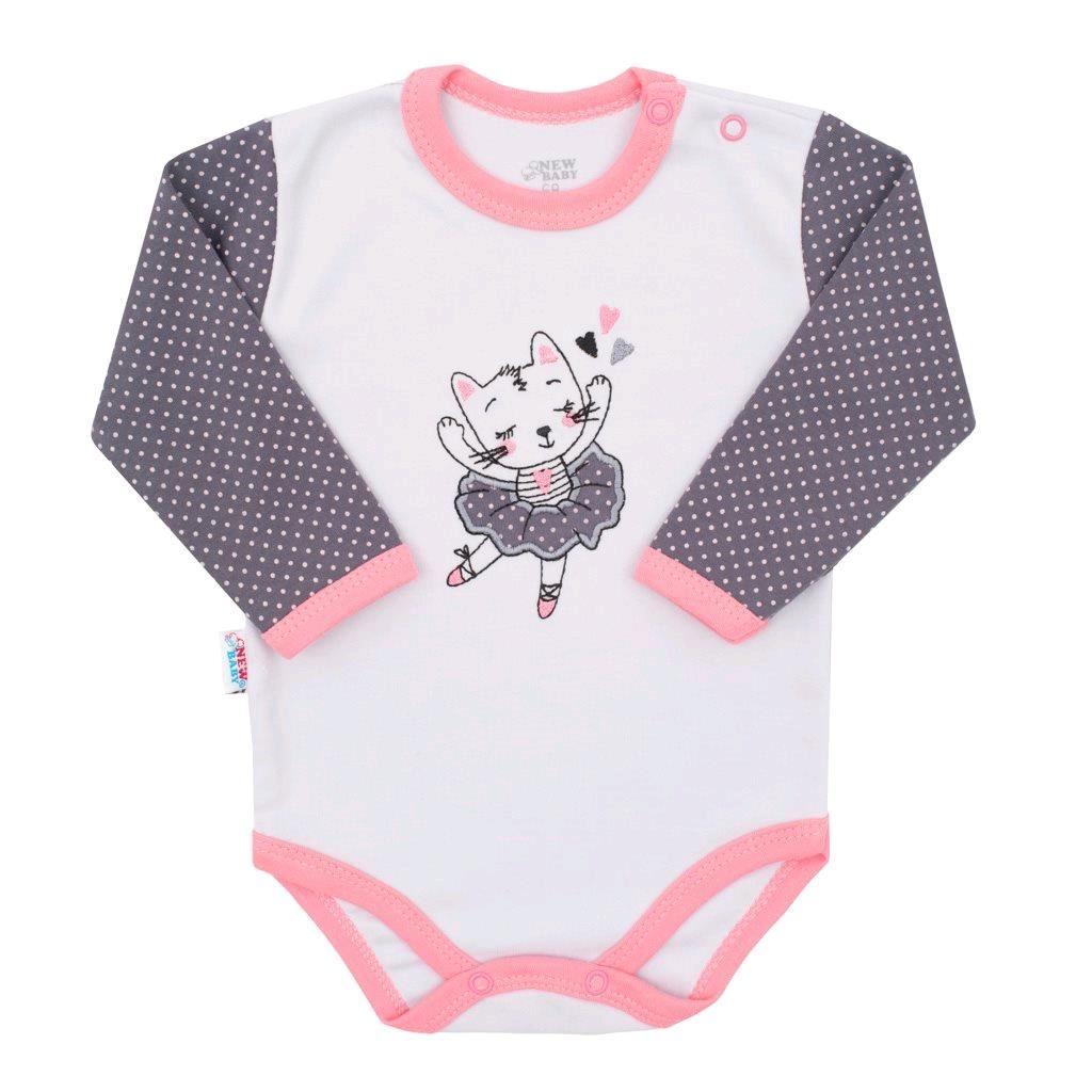 Dojčenské bavlnené body s dlhým rukávom New Baby Ballerina-62 (3-6m)