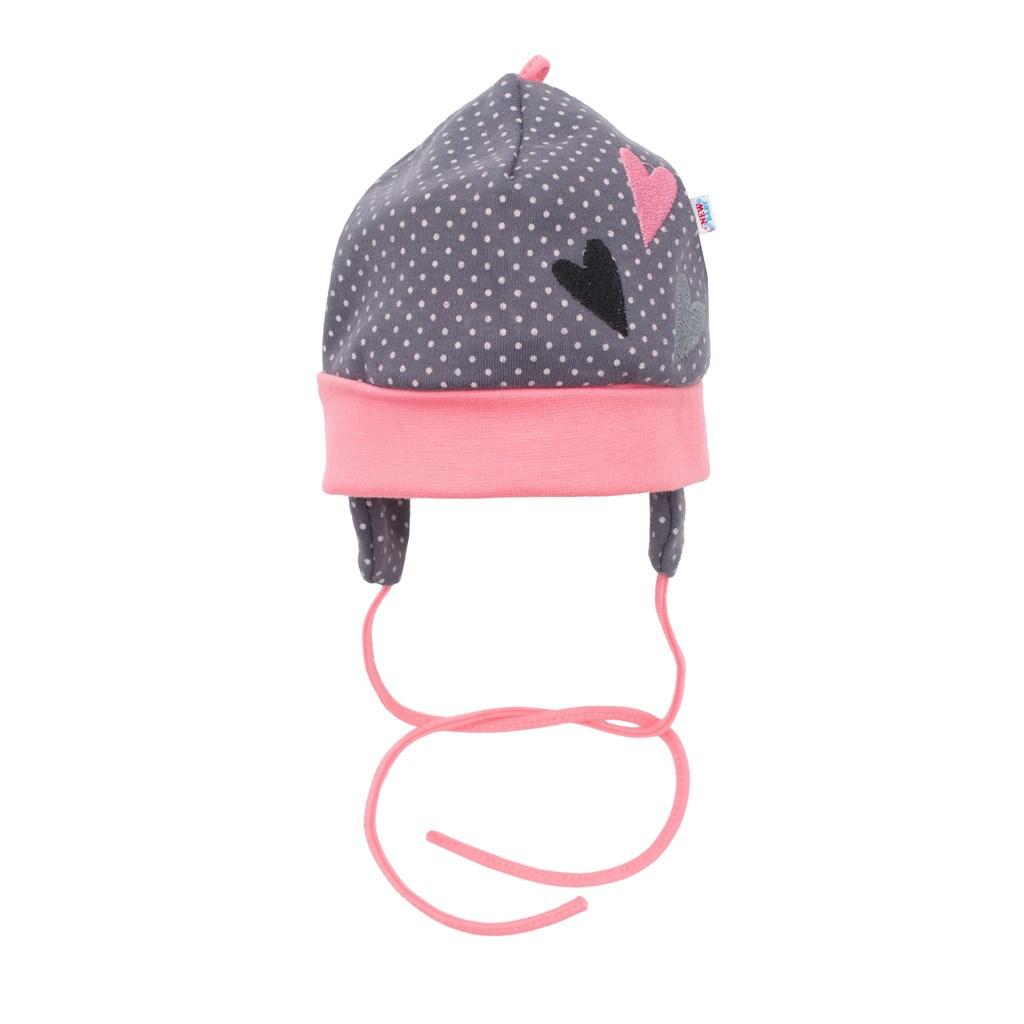 Dojčenská bavlnená čiapočka New Baby Ballerina-56 (0-3m)
