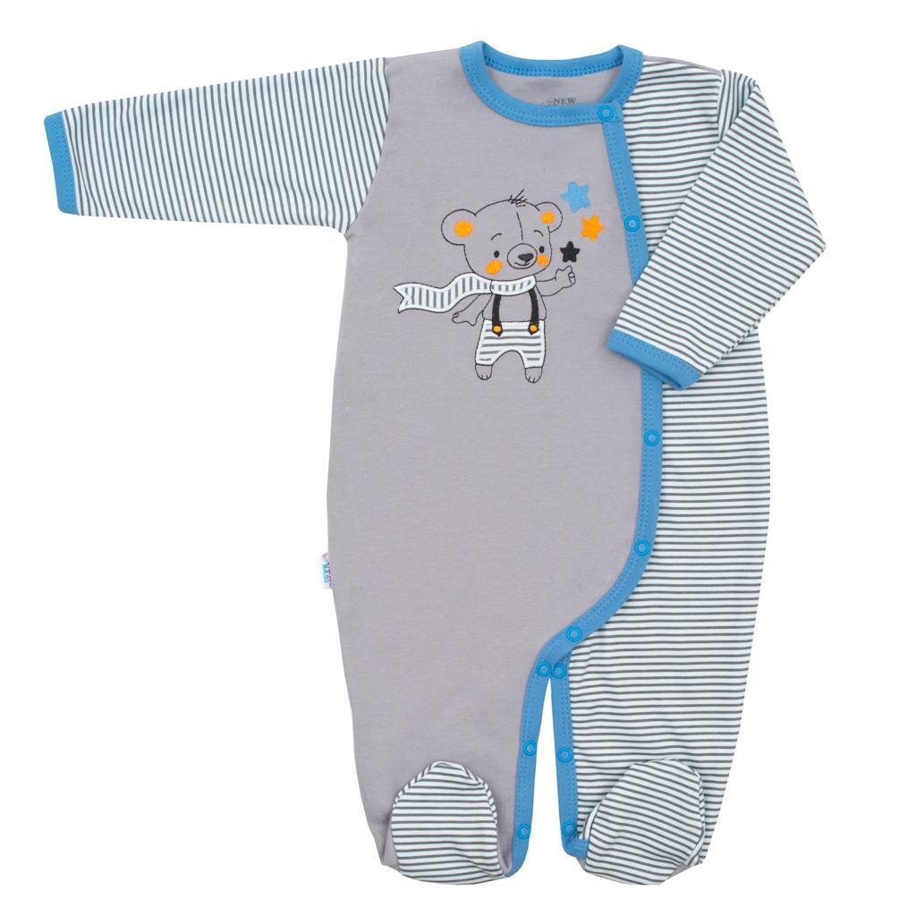Dojčenský bavlnený overal  New Baby Lucky Bear-62 (3-6m)