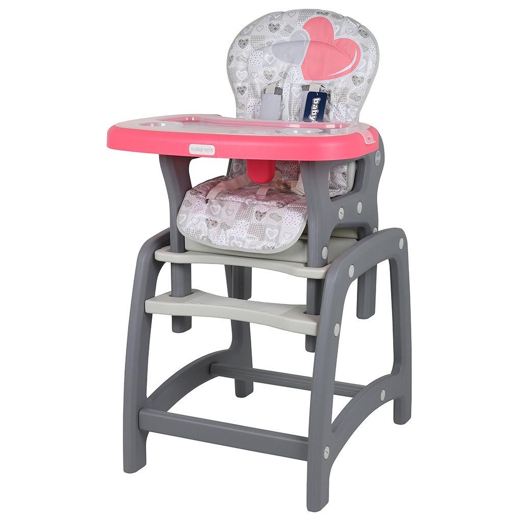 Jedálenská stolička Baby Mix 2v1 Coral