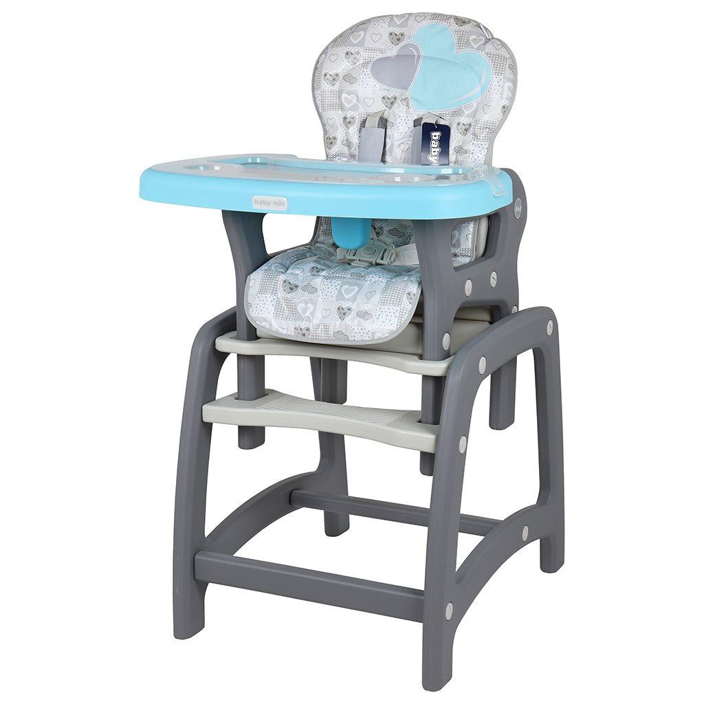 Jedálenská stolička Baby Mix 2v1 Blue