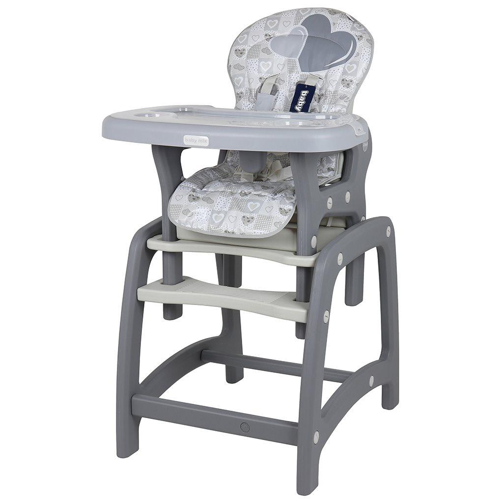 Jedálenská stolička Baby Mix 2v1 Grey