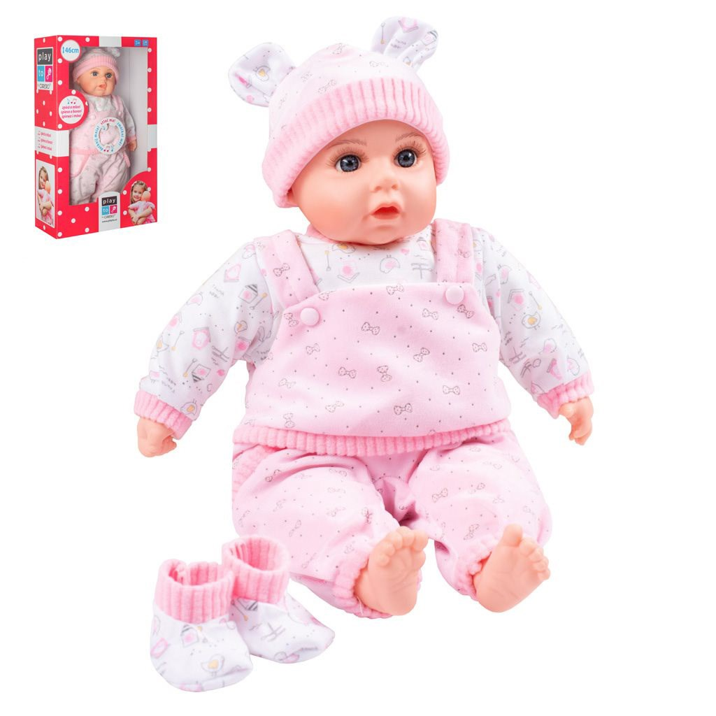 Česky hovoriaca a spievajúca detská bábika PlayTo Júlia 46 cm, Ružová