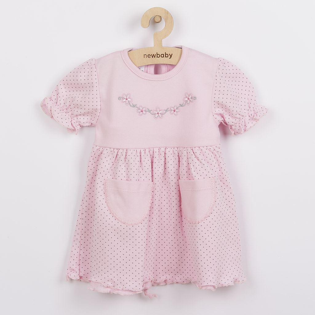 Dojčenské šatôčky s krátkym rukávom New Baby Summer dress-74 (6-9m)
