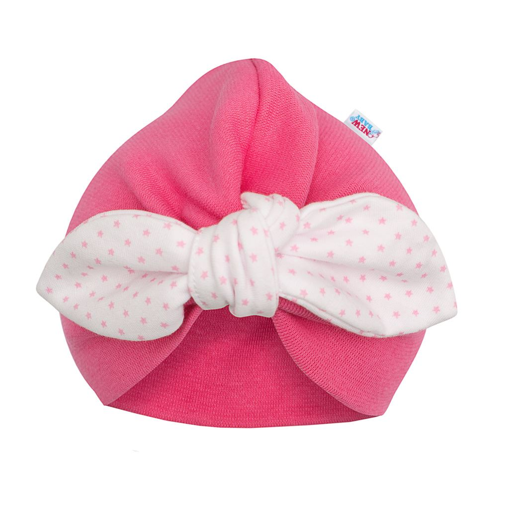 Dievčenská čiapočka turban New Baby For Girls dots-68 (4-6m)