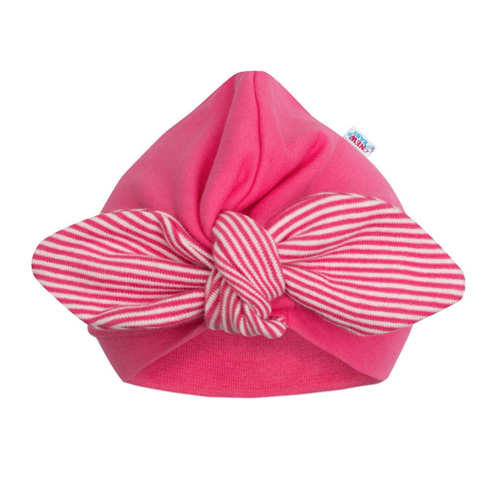 Dievčenská čiapočka turban New Baby For Girls stripes-74 (6-9m)