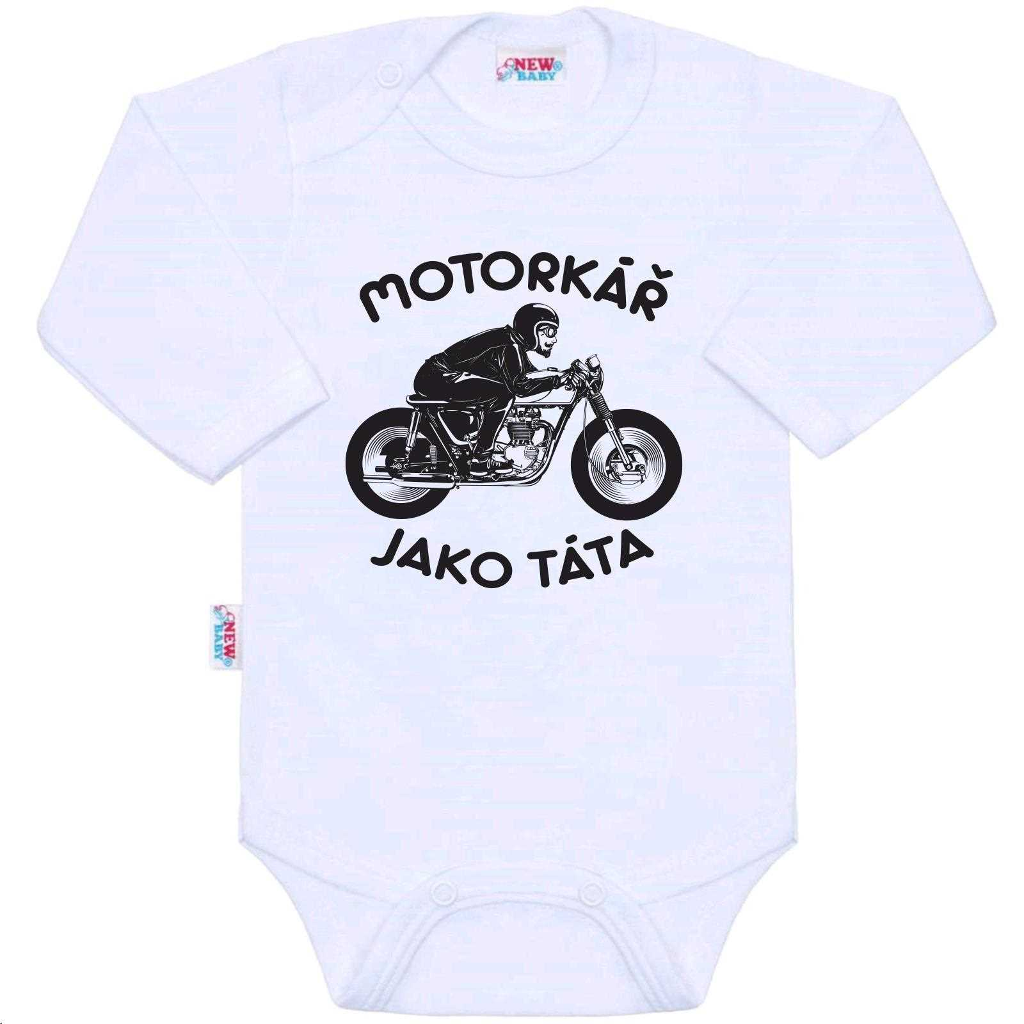 Body s potlačou New Baby Motorkář jako táta-62 (3-6m)