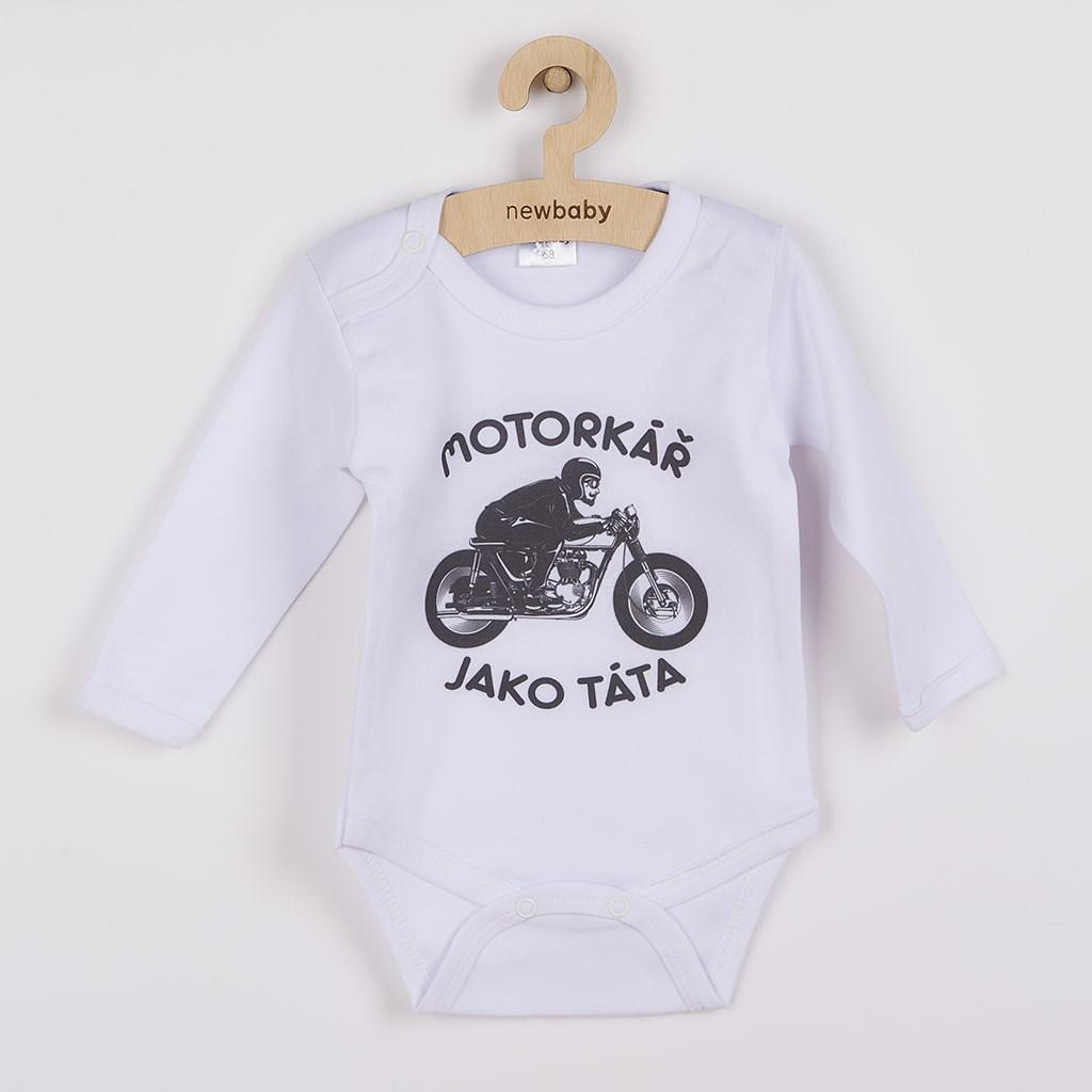 Body s potlačou New Baby Motorkář jako táta-56 (0-3m)