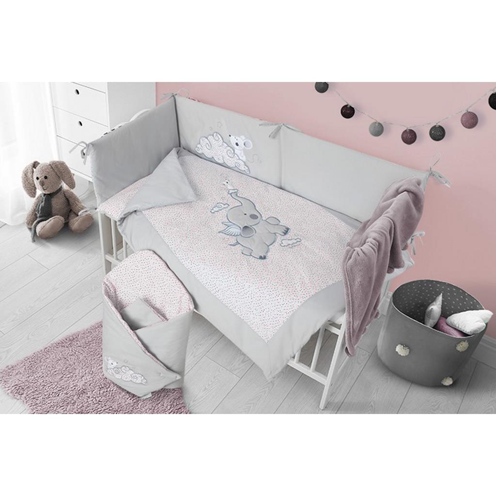 6-dielne posteľné obliečky Belisima Friends 90/120 ružové
