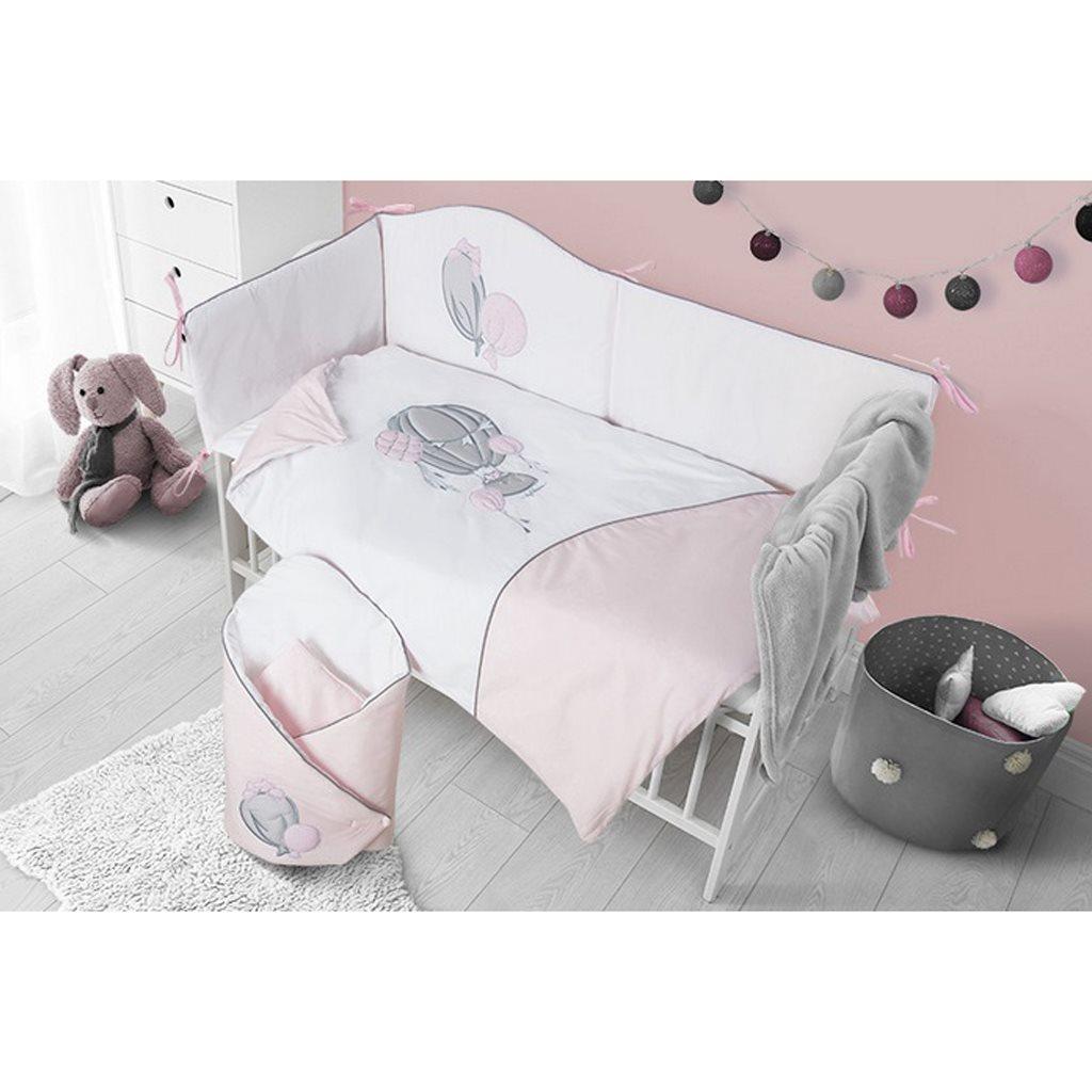 3-dielne posteľné obliečky Belisima Ballons 100/135 ružové
