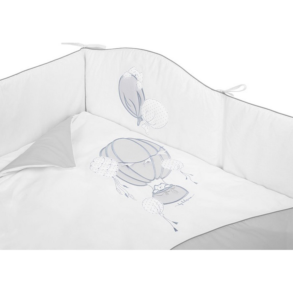 5-dielne posteľné obliečky Belisima Ballons 90/120 sivé