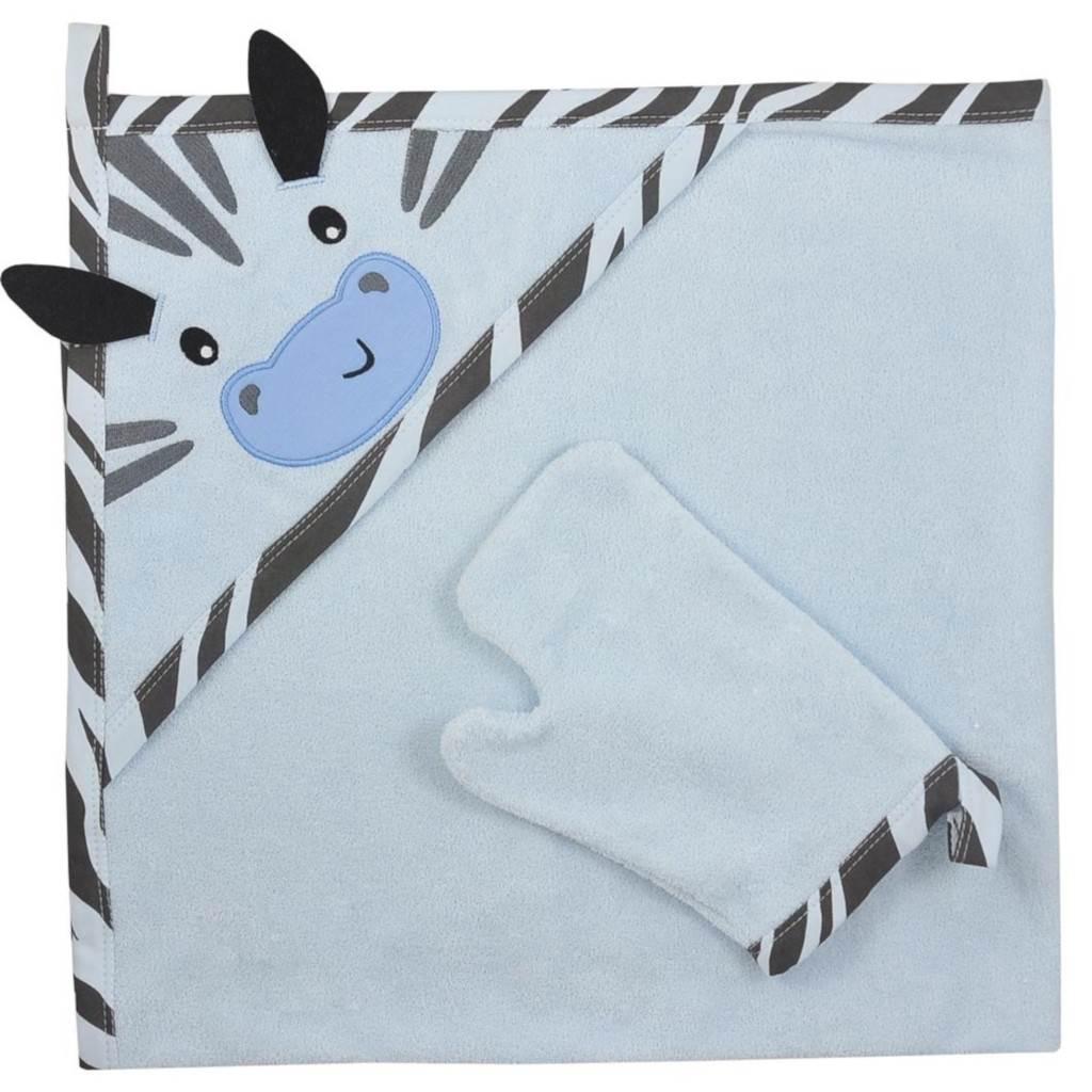 Detská osuška s žinkou Koala Happy Zebra blue