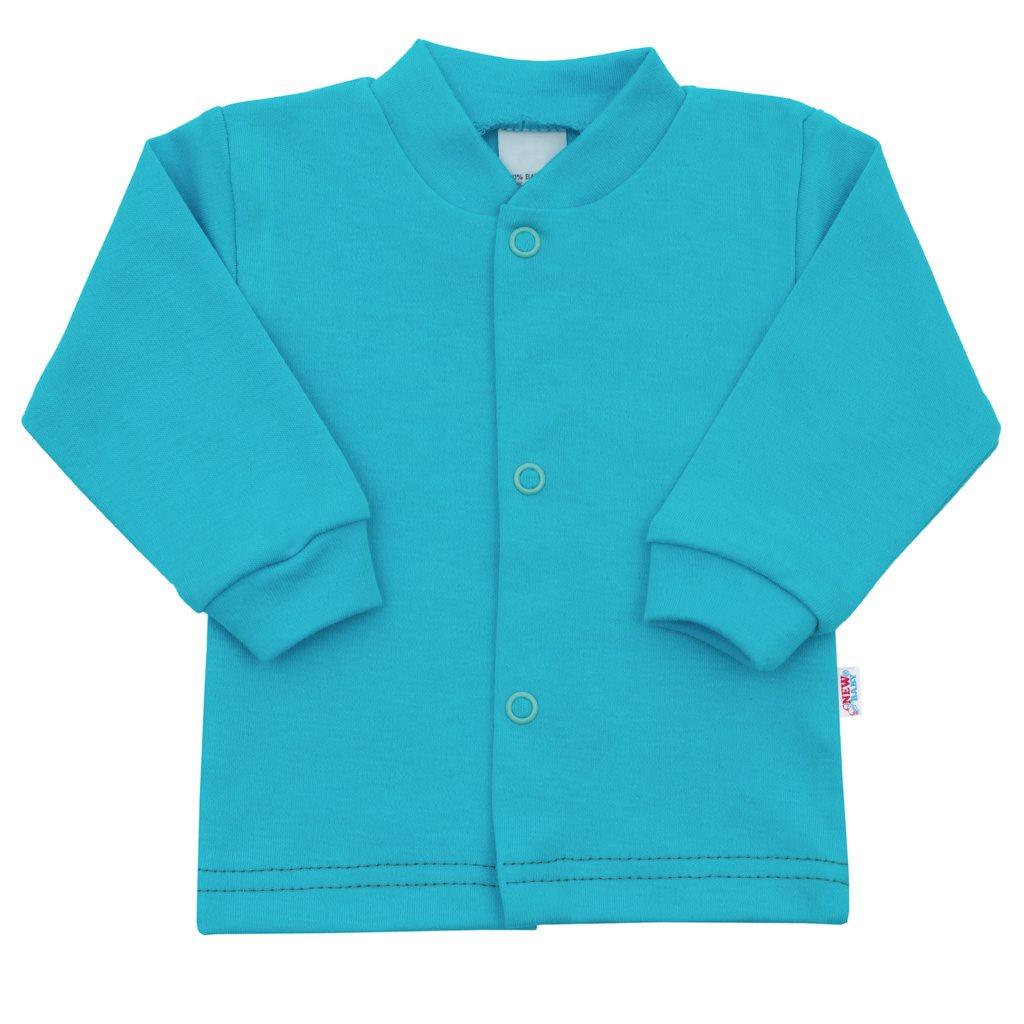 Dojčenský kabátik New Baby Mouse tyrkysový-56 (0-3m)