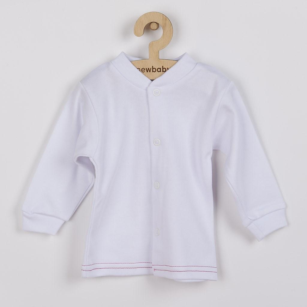 Dojčenský kabátik New Baby Mouse biely-68 (4-6m)