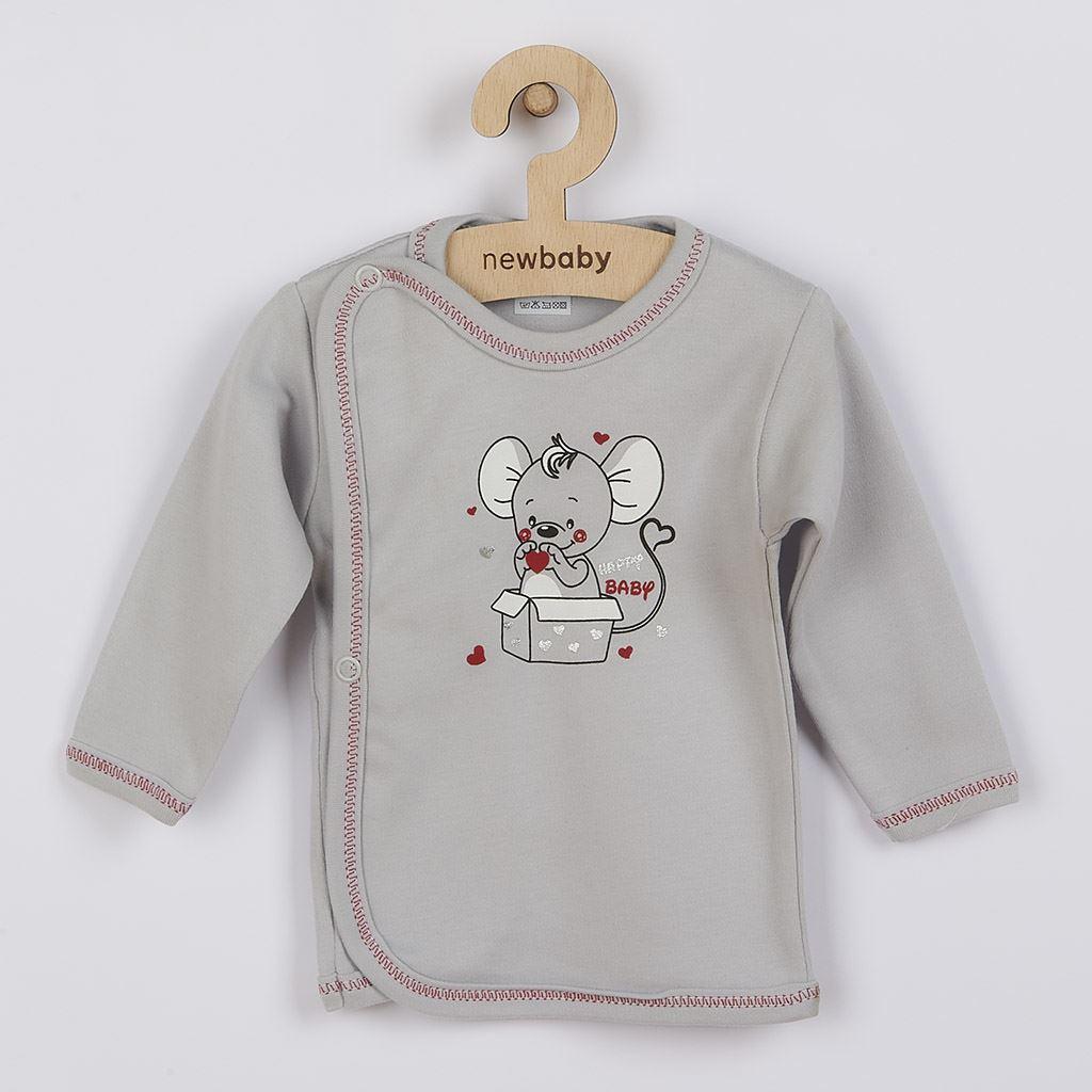 Dojčenská košieľka New Baby Mouse sivá-62 (3-6m)