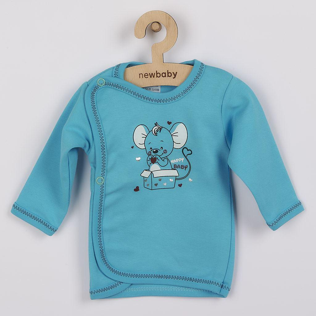 Dojčenská košieľka New Baby Mouse tyrkysová-62 (3-6m)