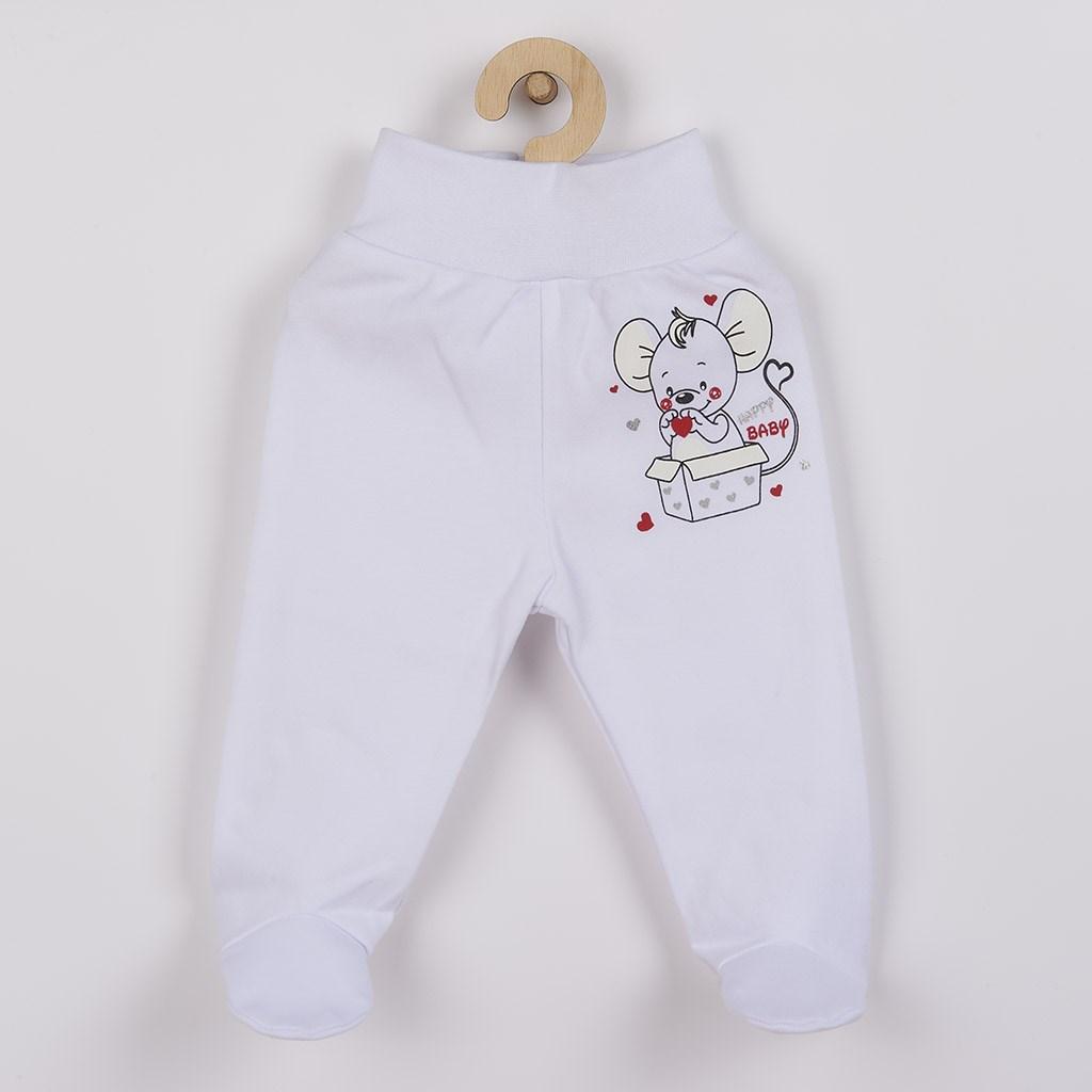 Dojčenské polodupačky New Baby Mouse biele-68 (4-6m)
