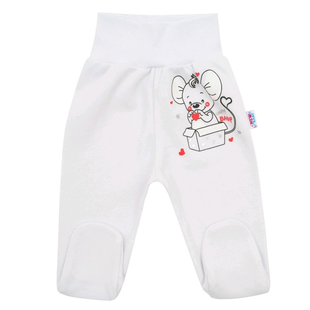 Dojčenské polodupačky New Baby Mouse biele-74 (6-9m)